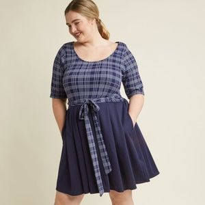 Modcloth In the Very Near Twofer A-Line Dress